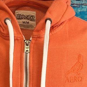 🧡Aeropostale full zip bird logo hoodie